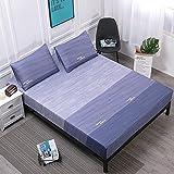 XGguo Protector de colchón de Rizo algodón y Transpirable Impresión de sábanas Impermeables Barrera de orina-9_100cmX200cm