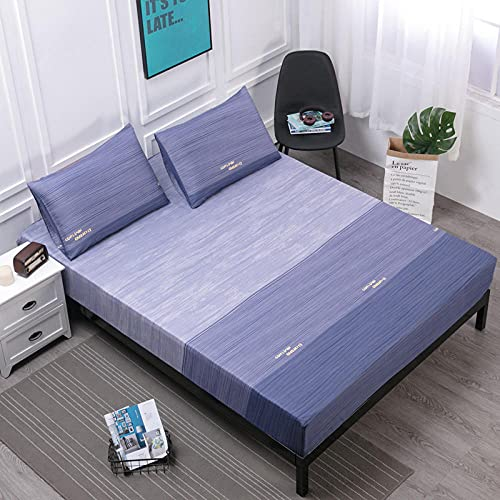 XGguo Protector de colchón de Rizo algodón y Transpirable Impresión de sábanas Impermeables Barrera de orina-9_120cmX200cm