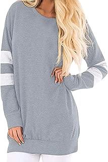 CUCUHAM Women Casual Long Sleeve Sweatshirt Pullover Long Shirt Tunic Tops Blouse