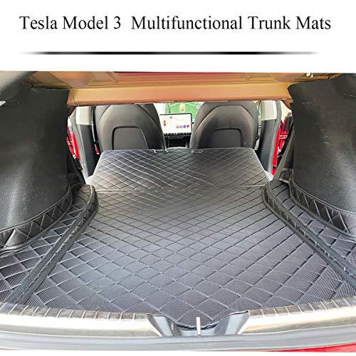 topfit Tesla Model 3 Kofferraummatten Kofferraum Haustier Matten Wasserdichte rutschfeste Schutzlehne Rückenlehnenmatten mit Oxford-Material für Tesla Model 3 Zubehör