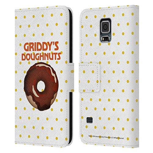 Head Case Designs Ufficiale The Umbrella Academy Cioccolato 2 Griddy's Ciambelle Cover in Pelle a Portafoglio Compatibile con Samsung Galaxy S5 / S5 Neo