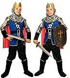 Magicoo königliches Ritterkostüm Kinder Jungen Mittelalter Gr. 92 bis 140 - Faschingskostüm Ritter Kostüm (122/128)