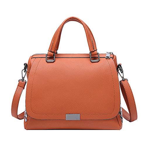 Weier. Ben nieuwe zachte lederen tas vrouwelijke schoudertas modetrend messenger tas handtas bruin