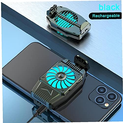 FeelMeet Teléfono móvil de enfriamiento Multi Calor de Ventilador del radiador Mini Juego Turbo huracán refrigerador de Uso disipación Negro