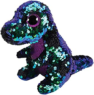 Ty Flippables Crunch The Green/Purple Sequin Dragon - 6