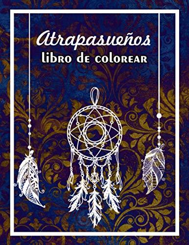 Atrapasueños -libro de colorear: 36 mandalas blancos de ensueño sobre fondo negro...