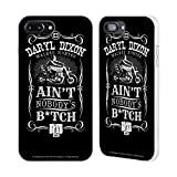 Head Case Designs Officially Licensed by AMC The Walking Dead Motorcycle Black White Daryl Dixon Biker Art White Fender Case Compatible with Apple iPhone 7 Plus/iPhone 8 Plus