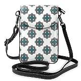 Goxegag Bolso multifuncional de piel para teléfono móvil, bolso de hombro pequeño, bolso de viaje con correa ajustable, diseño cuadrado