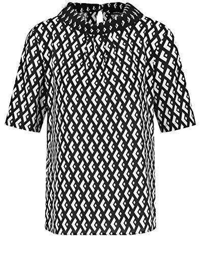 Taifun Damen 460027-11210 Bluse, Mehrfarbig (Black Ringel 1103), (Herstellergröße: 40)