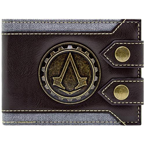 Cartera de Ubisoft Assassins Creed Syndicate Jacob Logo marrón