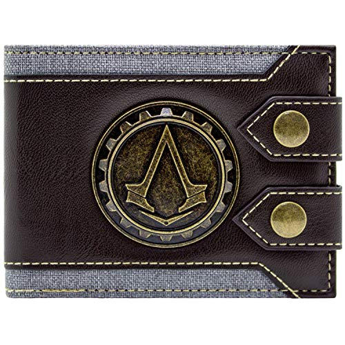 Cartera de Ubisoft Assassins Creed Syndicate Jacob Logo marrón