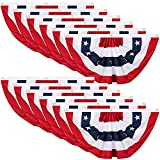 Tatuo Patriotic Decorations, 4th of July Pleated Fan Flags American US Bunting Flag Stars and Stripes Flag Banner for Independence Day Memorial Day and Labour Day (12 Pieces,1.5 x 3 feet)