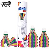 NONGI® 400 Colored Feather Badminton Shuttlecock    4 Color (Pack of 10)   