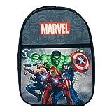 Marvel Mochila Avengers Mochila Oficial Ironman Hulk para Niños Escuela 1133 - Nero,