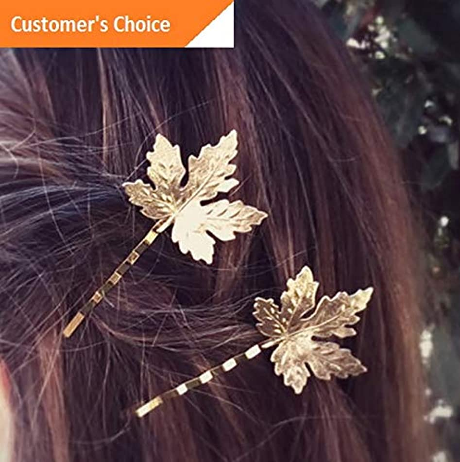 Werrox Fashion Retro Women Crystal Silver Gold Leaves Hairpin Hair Clip Accessoriess | Model HRPN - 723 |
