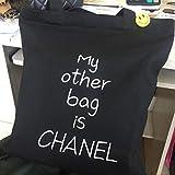 tiktokで話題沸騰 買い物袋 エコバッグ コンパクト ショッピング 防水 ファッション 収納袋 小物 軽量 大容量 布袋 環境保護 (黑)