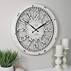 FirsTime & Co. Whitney Wall Clock, 20, Antique Cream
