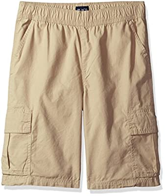 The Children's Place Big Boys' Pull-on Cargo Shorts, Sand Wash, 10
