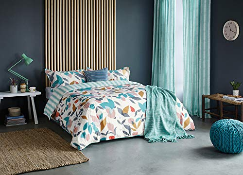 Scion Akira Duvet Cover Teal, 100% COTTON PERCALE 180 THREAD COUNT, King