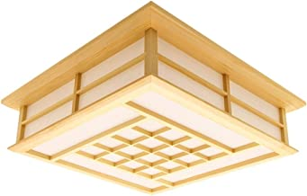 Wsxxn Ceiling Light, Japanese-Style Ceiling Lamp, Led Solid Wood, Japanese-Style Lamps, Korean Living Room Study Bedroom L...