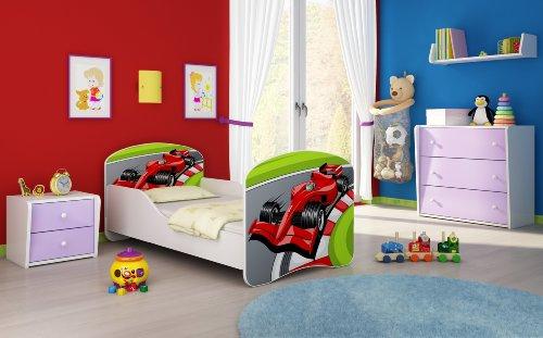 Letto per bambino Cameretta per bambino con materasso Cassetto ACMA I (06 Formula 1, 140x70)
