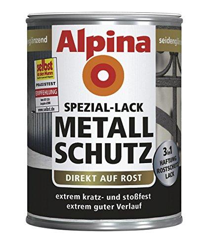 Alpina Lack Kunstharzlack XT Metallschutzlack Tiefschwarz RAL 9005, 250 ml