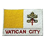 Parche bordado para coser o planchar, diseño de bandera nacional de la Ciudad del Vaticano