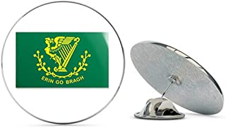 NYC Jewelers Erin Go Bragh Ireland Harp Flag (Irish) Metal 0.75