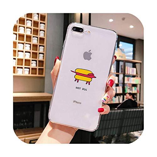 Funda para teléfono de perro caliente para iPhone X XS MAX 6 6s 7 7plus 8 8Plus 5 5S SE 2020 XR 11 11pro max funda transparente Cover-a10-For 7plus u 8plus