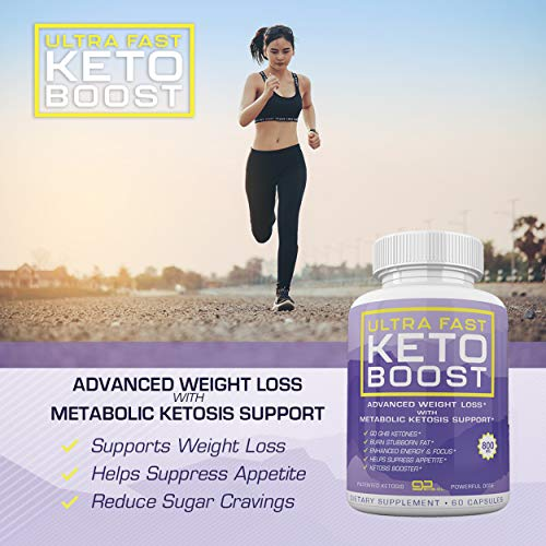 Ultra Fast Keto Boost - Advanced Weight Loss with Metabolic Ketosis Support - 800MG - 60 Capsules - 30 Day Supply 9