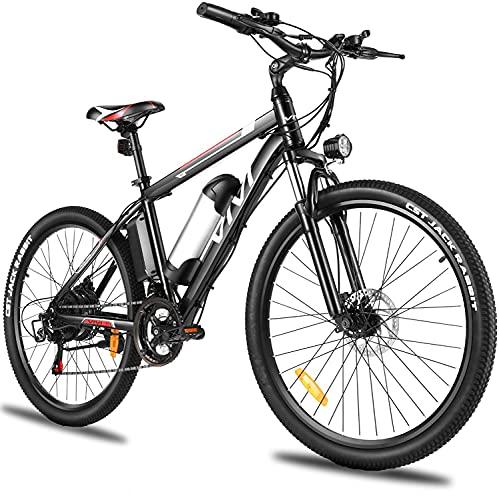 Vivi Bicicletta Elettrica per Adulti Bici Elettriche da 26 Pollici, Bici Elettrica Mountain Bike Elettrica Uomo e Donna, con Batteria al Litio Rimovibile da 36 V 8 Ah, Cambio Shimano a 21 Marce
