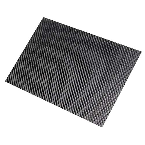 200x300x(0,5-5–5mm) 3K schwarz Twill Weave Carbon Fiber Platten Glänzend Carbon Fiber Board Panel High Composite RC Material, 2mm, 1