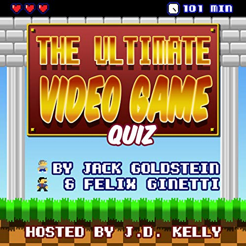 The Ultimate Video Game Quiz     600 Questions from Pong to the Present Day              By:                                                                                                                                 Jack Goldstein                               Narrated by:                                                                                                                                 J. D. Kelly                      Length: 1 hr and 40 mins     Not rated yet     Overall 0.0