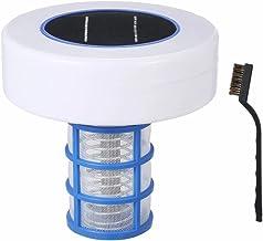 MSLing Ionizer de Piscina Solar,Herramienta Automática de Limpieza del Purificador de Agua de Limpiador de Piscina,Clarificador de Piscina con Energía Solar Clarifier de Cloro Inferior para Piscinas