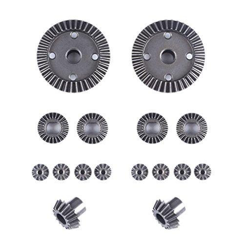 Faironly Metal Motor Driving Gear diferencial Gear Set para WLtoys A95