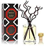 HOUZZ Interior Bourbon Vanilla Reed Diffuser Set – Bourbon, Sweet Vanilla & Honey – Made with Natural Essential Oils – No Sulfates or Parabens – Home Gift Idea – Made in The USA