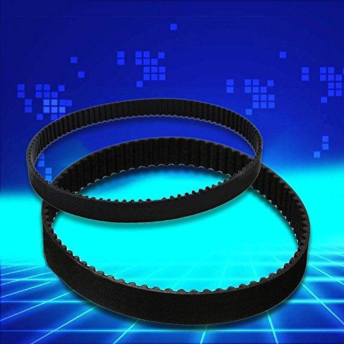 Tiptiper 3D-Drucker geschlossen Gummiring Zyklus schwarz Breite 6mm Länge 158mm für 2GT-6