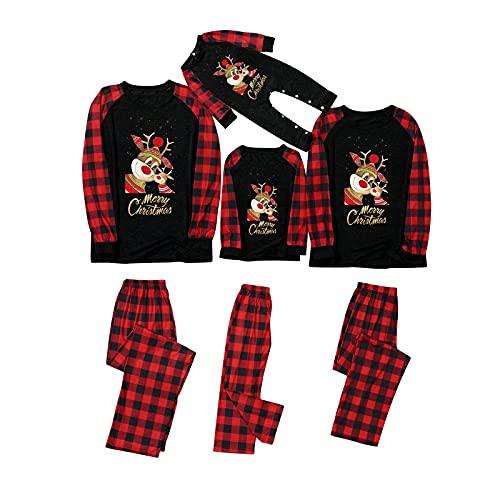 Christmas Pajamas for Family - Family Matching Christmas Clothes Set - Holiday Family Matching Outfits Black