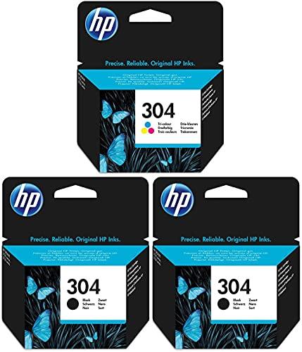 HP Lot de 2cartouches d'encre noire et 1cartouche tricolore d'origine pour imprimante Deskjet3720
