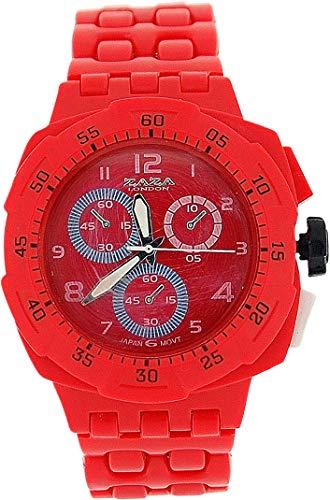 ZAZA London PL342 red - Orologio da polso, cinturino in plastica colore rosso