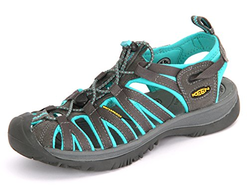 Keen Damen Whisper Sport-& Outdoor Sandalen, Dark Shadow/Ceramic, 39.5 EU