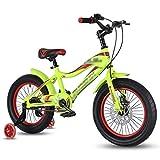 ZYC-WF de Bicicletas Niños, Niños de 16 Pulgadas Bicicleta con Ruedas de Entrenamiento, Bicicletas de Montaña Del Freno de Disco 6-13 Años Carro de Bebé