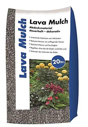 Hamann Lava-Mulch Anthrazit 2-8 mm 20 l - schnell und problemlos verarbeiten - Boden bleibt frisch, Wird vor Austrocknung geschütz