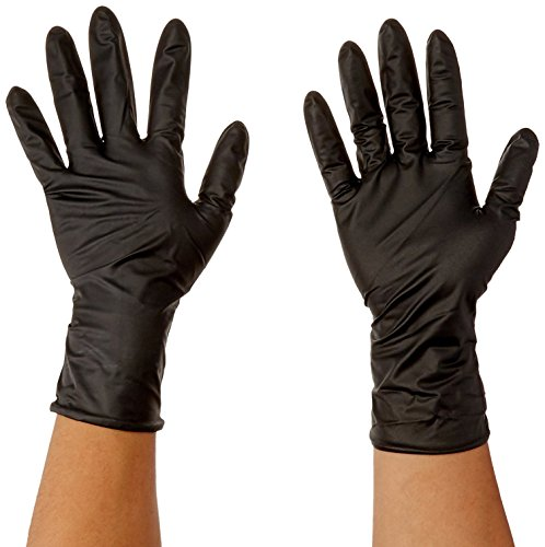 Atlantic Safety Products Black Lightning Gloves BL-S, Small, Box of 100 Gloves