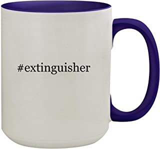 #extinguisher - 15oz Hashtag Ceramic Inner & Handle Colored Coffee Mug, Deep Purple