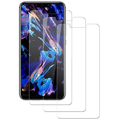 RSSYTZ Cristal Templado para Huawei Mate 20 Lite, [3 Piezas] Cobertura Completa, Anti-rasguños, Sin Burbujas, Película Protectora de Vidrio Templado para Huawei Mate 20 Lite