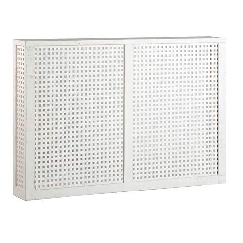 Nordic Cache-Radiateurs 116,5Cm - Bois - 116x18x78 cm - Couleur Blanc Snow