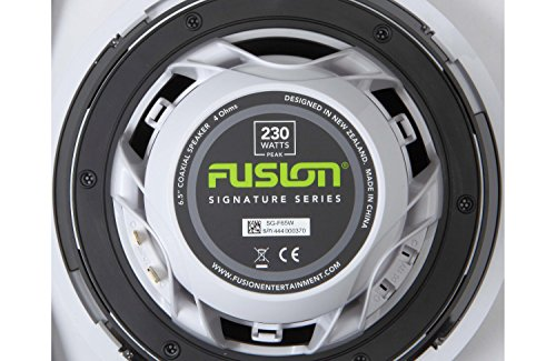 Fusion Marine High Performance Classic Grill Loudspeaker - White,...