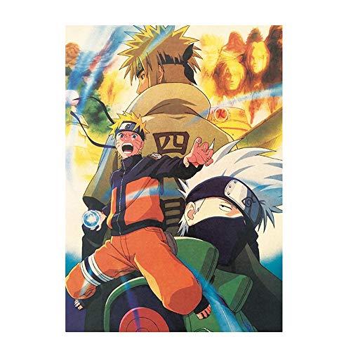 Haushele OFD Naruto Japanese Anime Naruto Serie Poster Hängen Retro Kraftpapier Poster Indoor Bar Cafe Dekorative Malerei