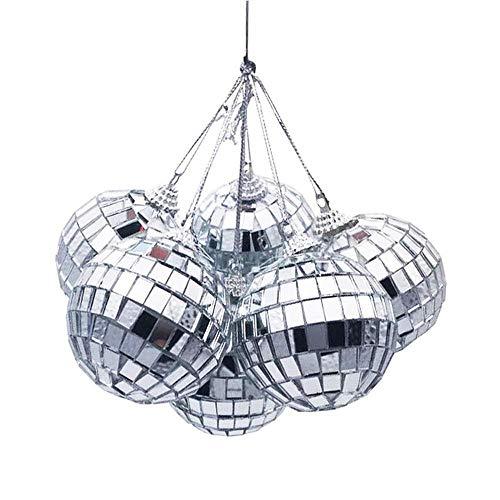 Aeromdale Christmas Ball Ornaments Mini Disco Mirror Ball Christmas Tree Decoration Xmas Party Favor And Gift 8D - 6pc/set - 7cm